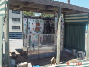 Dog Shampoo facility at Arno Bay Caravan Park.
